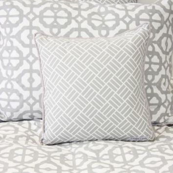 Caden Lane® Mod Lattice Square Toss Pillow in Grey