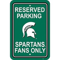 Michigan State Spartans RESERVED Lrge 12x18 Plastic Wall Parking Sign University