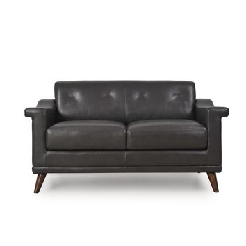 Kak Mid-Century Loveseat Charcoal Grey