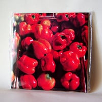 Peppers ceramic tile, farmer's market, harvest, produce, bell pepper, mug, all occasion gift, wall decoration, decorated wall tile T654