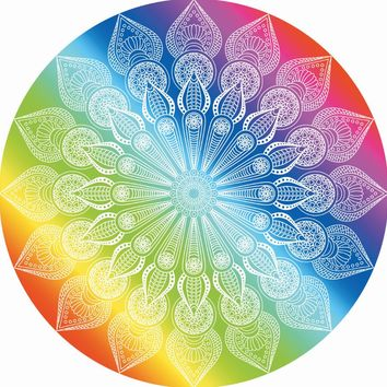 India Elephant Tapestry Rainbow Chakra Mandala Wall Hanging Bohemia Chiffon Thin Summer Beach Tippet Bikini Cover Up