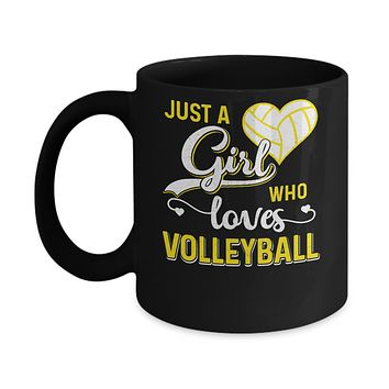 Just A Girl Who Loves Volleyball Mug