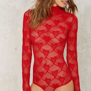 Heart You Crochet Lace Bodysuit