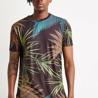 Tropical Curved-Hem Tee