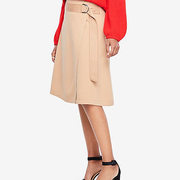 Belted Circle Skirt | Ann Taylor