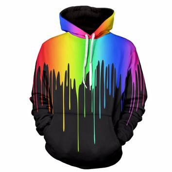2017 Women 3D Pullovers Men's Hoodies Graffiti Print Graphic Sweatshirts Hip Hop Sweat Shirt Streewear Unisex Sportswear