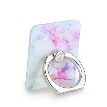Pastel Rainbow Marble Phone Ring