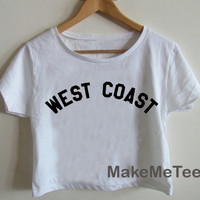 New West Coast Miley Cyrus Logo Crop top Tank Top Women Black and White Tee Shirt - MM1