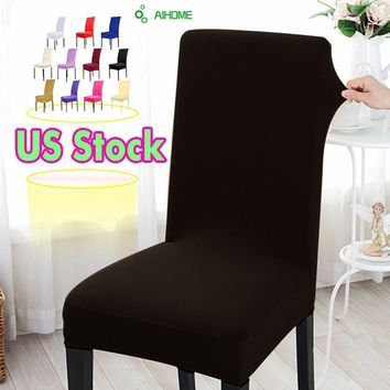 New Spandex Elastic Cloth Solid Colors Spandex Dining Chair Covers For Wedding Party Decoration