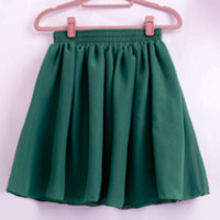 Forest Green Skater Skirt