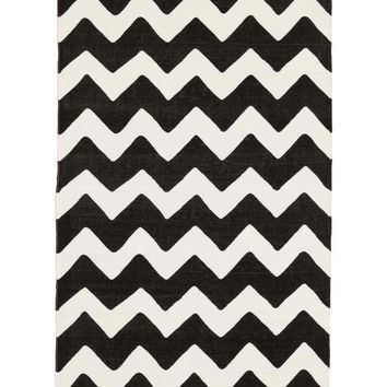 Zigzag-print cotton rug - White/Anthracite - Home All | H&M GB
