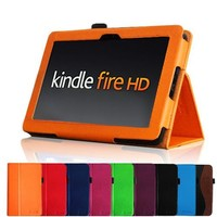 """Fintie Kindle Fire HD 7"""" (2012 Old Model) Slim Fit Leather Case with Auto Sleep/Wake Feature (will only fit Amazon Kindle Fire HD 7, Previous Generation - 2nd), Orange"""