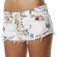 BILLABONG LITE HEARTED FLORAL SHORT - WHITE