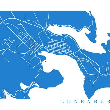 Lunenburg Map Print