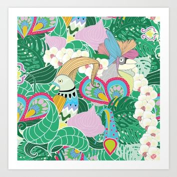 tropical Art Print by laP sciop