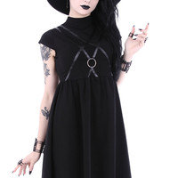 """""""SYGIL TUNIC"""" gothic asymmetric dress, leather straps with o-ring"""