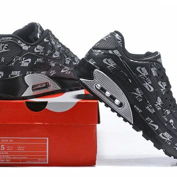 Nike Air Max 90 537384-003 Black Running Sneaker