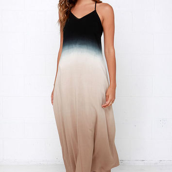Feel-Good Fade Black Ombre Maxi Dress