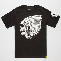 Rusty Butcher Native Mens T-Shirt Black  In Sizes