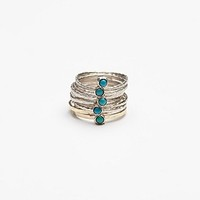 Ithil Metalworks Womens Stacked Turquoise Ring
