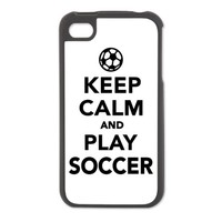 Keep calm and play Soccer iPhone 4/4S Switch Case