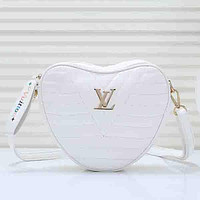 Louis Vuitton LV Heart Women Fashion Leather Crossbody Shoulder Bag