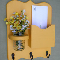 Mail Organizer - Letter Holder - Mail Holder - Key Hooks