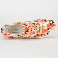 Bucketfeet Delta Womens Shoes Pink/Grey/Black  In Sizes