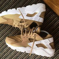 Nike 'Latte' Air Huarache unisex customs.