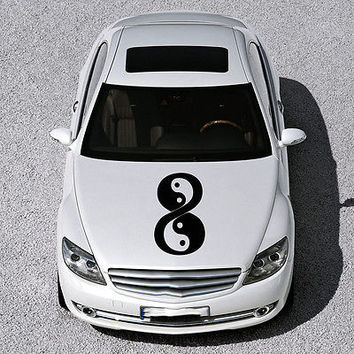 Taoism Infinity Sign Yin and Yang HOOD CAR VINYL STICKER DECALS GRAPHICS SV3654