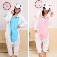 !Kigurumi Lovers Pajamas/Unicorn/blue/pink/ Cosplay Anime Costume/Fancy Dress