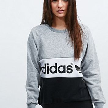 Adidas City Sweatshirt in Grey and Black - Urban Outfitters