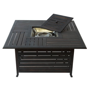 Bombay™ Aluminum Brushed Bronze Fire Pit Table