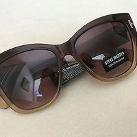 NWT Steve Madden Oversized Two-Toned Women's Sunglasses
