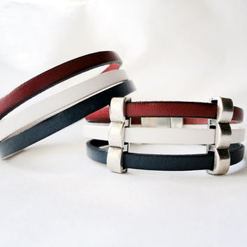 USA United States of America  Flag Bracelet, Football 2014 World Cup Soccer Team Flag, Leather Bracelet,  Soccer Wristband