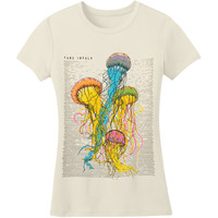 Tame Impala  Girl's Jellyfish Girls Jr Soft tee Natural Rockabilia
