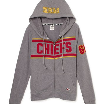 Hot Kansas City Chiefs Authentic Logo Pullover Hoodie Grey  hot sale