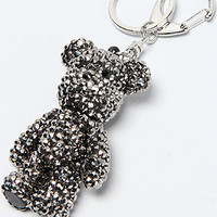 The Stoned Bear Keychain in Pewter