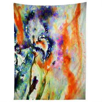 Ginette Fine Art Blue Iris Passion Tapestry