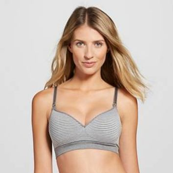 Women's Nursing Seamless Bra Gray Space XL - Gilligan & O'Malley™ : Target