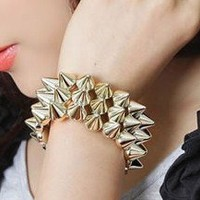 Golden Spikes Bracelet