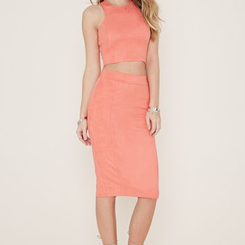 Faux Suede Pencil Skirt | Forever 21 - 2000170454