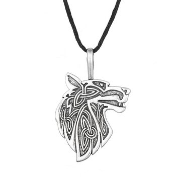 *Viking necklace Fox Triquetra Fenrir Animal Teen Wolf Necklace men Fashion Jewelry pendant Supernatural Amulet Knot