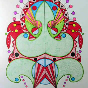 Tribal Tattoo Flash Inspired Coloring Book Digital Downloads Available