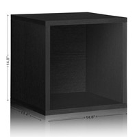 Black Vinyl Record Storage | Stackable Storage Cubes | Way Basics