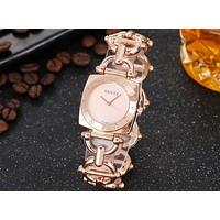 GUCCI 2018 new men and women couple models wild bracelet watch waterproof watch F-JYXCX-Y rose gold
