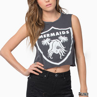 Life Clothing Team Mermaids Crop Tank $28