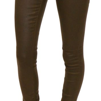 AG jeans | the legging (brown leather wax)