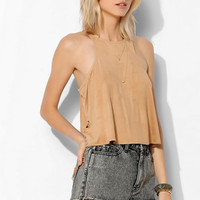 Staring At Stars Lace-Up Suede Tank Top - Urban Outfitters