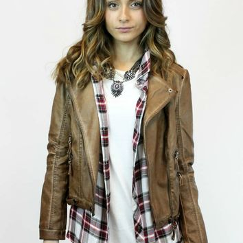 Nutty Faux Leather Jacket | Blu Pepper